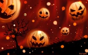 Halloween-Pumpkins-In-Sky-Widescreen-Wallpaper